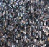 Черная мозаика раковины 10*20 Mop губы