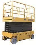 gewicht van de Lading van het Platform 320kg van het Werk van de Schaar van 12m het Lucht, De Vrachtwagen van de Bouwconstructie