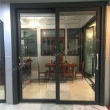 Color gris aluminio puerta corrediza de vidrio