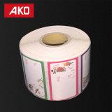Coated Melt Holt слоя бумаги искусствоа для ярлыка рождества крена бумаги вкладыша Glassine низкой температуры напечатанного ярлыком