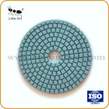 oppoetsende Stootkussen van de Diamant van het Gebruik van 100mm het Natte Flexibele voor Marmer, Graniet en Beton