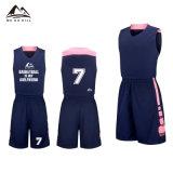 Exclusivo diseño personalizado de color rosa el baloncesto Jersey