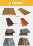 Decking composto plástico de madeira recicl durável, revestimento impermeável de WPC
