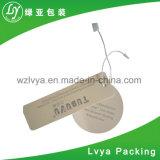 Impresión de alta calidad de la etiqueta ropa de etiqueta para colgar las prendas de vestir