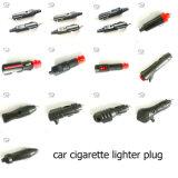 Plugue principal vermelho do isqueiro do cigarro do carro com interruptor do diodo emissor de luz
