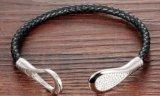 PunkStijl van de Armband van de manier de Leer Gevlechte met de Levering voor doorverkoop van de Juwelen van de Manier van Bracelets&Bangles van het Zirkoon