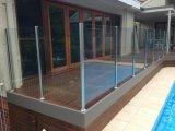 Hornear Negro balaustre heladas vidrio templado Barandilla para Villa Balcón