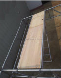 Tablón de madera del andamio de la tarjeta de aluminio de la madera contrachapada con el gancho de leva