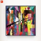Het kleurrijke Abstracte Olieverfschilderij van het Af:drukken van het Canvas voor Decor