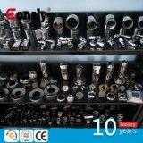 Support en verre de broche en verre foré par faisceau d'acier inoxydable pour le système à rails