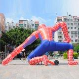 防水シートポリエステル販売または昇進のための膨脹可能なスパイダーマンの表示