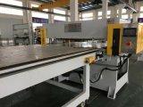 Un lado una alimentación de precisión mediante cuatro columnas Tela máquina de corte / corte de piel de Prensa
