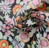 100% poliéster impressão chiffon tecido para lenço e vestido feminino