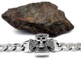 Modèle gothique de crâne de bijou de costume d'acier inoxydable des bracelets 316L d'hommes