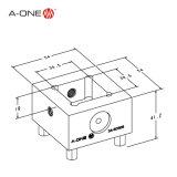 De Houder van de Elektrode van de lage Prijs met 30mm Vierkant Type voor CNC Gebruik 3A-501105