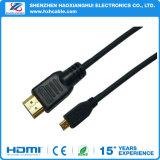 마이크로 HDMI 케이블 V1.4 Gold-Plating 접합기 변환기에 HDMI