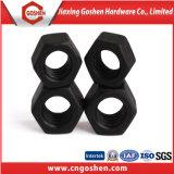 黒い酸化物が付いている高品質の十六進重いナット
