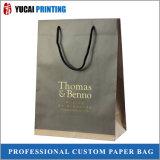 Нов конструированная бумажная хозяйственная сумка с логосом золота