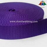 ドッグカラーおよび鎖のための25mmの紫色の平らなナイロンウェビング
