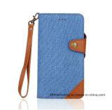 iPhone 8/8plus를 위한 분리가능한 청바지 2in1 가죽 지갑 전화 상자