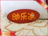 A etiqueta de borracha de Keychain da etiqueta da promoção calç a etiqueta macia