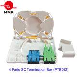 Boîtier de terminaison de câble à 4 ports Sc Fibre Optique (PTB012)