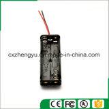 support de la batterie 2AAA avec fils de fil rouges/noirs