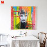Lady Portrait Peinture d'huile pour la maison