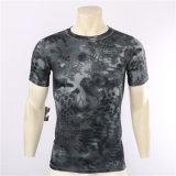 T-shirt meilleur marché de Rapide-Séchage de camouflage du python 2017 noir en gros