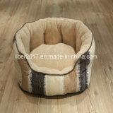 Het ronde Bed van het Huisdier van het Leer van de Producten Pu van de Hond van het Bed van de Hond Innovatieve