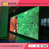 Schermo di visualizzazione locativo pieno di evento LED della fase di colore P8 video/segno/parete esterni