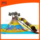 Mich пиратской тематические детская площадка с Valcano для установки внутри помещений