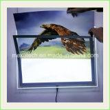 Cadre en cristal mince d'éclairage LED suspendu par câble de cadre léger