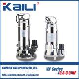 Pompa sommergibile delle acque luride integrali dell'acciaio inossidabile di WQ/JYWQ per acqua sporca