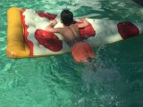Pizza estera inflable de aire