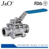ISO5211据付パッドが付いている衛生3PCSバット溶接球弁