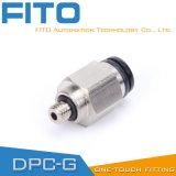 PC пневматический G-Продевает нитку штуцеры с покрынным никелем и колцеобразным уплотнением PC8-02
