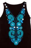 Robe noire de Sequin de dames de couleur