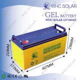 Free Maintenance Life Deep Cycle 12V bateria de gel 100ah com carregador