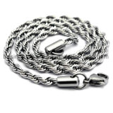 Het Roestvrij staal Rope Link Chain 2mm 3mm 4mm van vrouwen
