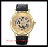 OEM-популярные моды Quartz мужские часы с подлинной ремешок из натуральной кожи Fs545