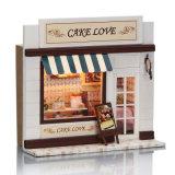 Haut de page populaires pour enfants Maison de poupée en bois de bricolage de mode