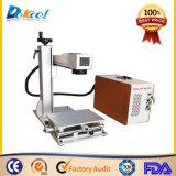 Máquina de gravura da marcação do laser da fibra da cor de 10 W Mopa com tabela movente
