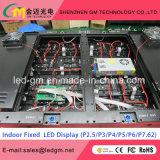Parede de TV de alta definição interior P2.5 / P3 / P3.91 / P4 / P4.81 / P5 / P6 Display de LED
