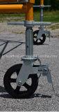 Sicheres haltbares Maurer-Rahmen-Baugerüst Teil-Fußrolle Rad