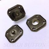 Nuevo botón de metal Disgn Fashion Square Botón Snap de coser