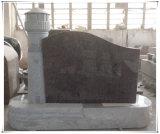 Monumentos eretos do granito do Headstone do estilo americano preto de Shanxi
