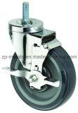 mittelgrosse zweiachsige Schrauben-Fußrollen-Räder PU-4inch mit Bremse