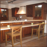 Mobília luxuosa elegante do gabinete de cozinha da madeira 2017 contínua