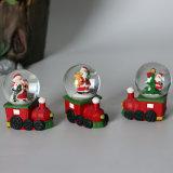 Глобус воды Santa Claus сувенира глобуса снежка Polyresin с основанием автомобиля